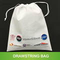 customized heat transfer printing white non woven drawstring bag alibaba trade assurance