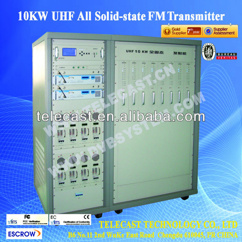 10KW FM Transmitter from Telecast of China