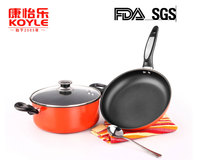 China dinnerware set kitchen appliance fry pan and stockpot colorful dinnerware sets