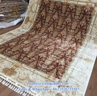 red top quality handknotted 260x350cm silk hand made turkey carpet
