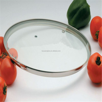 G Type Tempered glass pan cover with refined rim 34cm