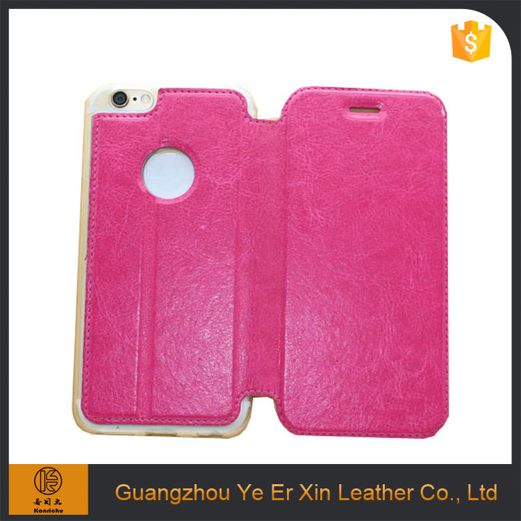 Wholesale 2016 hot sale smart leather cell phone case for iphone 5s 6s 7 plus