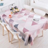 Various Styles Thick Cotton Triangle Pattern Table Cloth Tablecloth