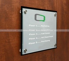 8.5 x11 Office Door Sign w/ Acrylic Plates, Corporate Door Signs with a Black and Clear Acrylic Plate