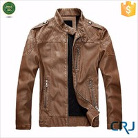 2015 mens winter fashion cow leather jacket
