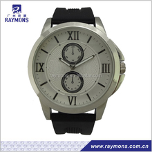 Japan quartz silicon wrist bands watch