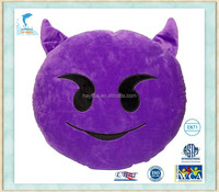 Emoji Emoticon Devil Yellow Round Cushion Pillow Stuffed Plush Soft Toy