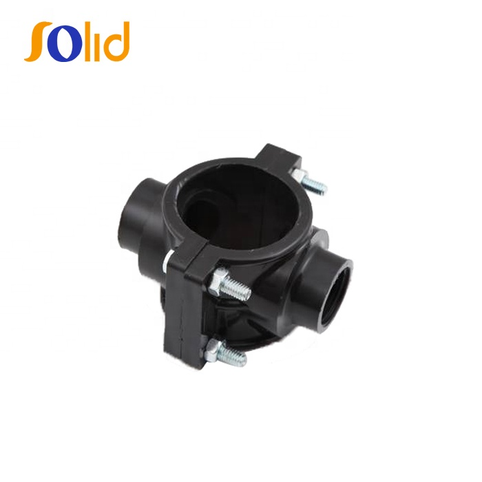 HDPE Plastic PP Clamp Saddle Double Outlet Saddle (Galvanized) Bolt & Nut