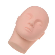 Wholesale Silicone Eyelash Extension Training Mannequin Head Flat Model Head With Cheap Price