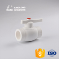 The high quality butterfly handle brass core PPR ball valve