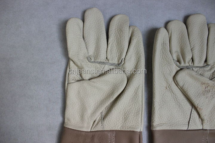 Stocklot Hot Selling Industrial Cheap Leather Working Gloves