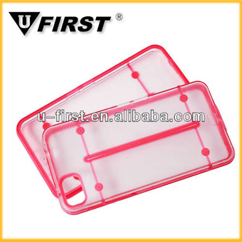 Two color plastic mobile phone case for blackberry Z10