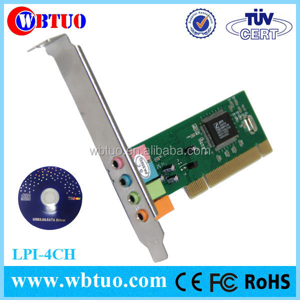 3d cmi 8738 4 channel pci sound card