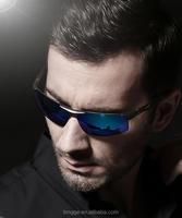 Aluminum Magnesium Polarized Mens Sunglasses Sports Sun glasses Night Driving Blue/red Mirror Male Oculos Eyewear For Men 6502
