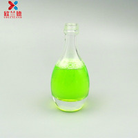 50ml bowling shape glass drinking bottle for wine juice beverage packing