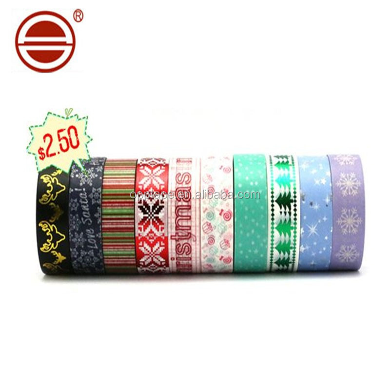 Offer printing logo custom white bopp adhesive packing tape custom printed washi tape