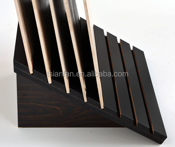 E503 Free Standing Wood Merchandising Display Stand Floor