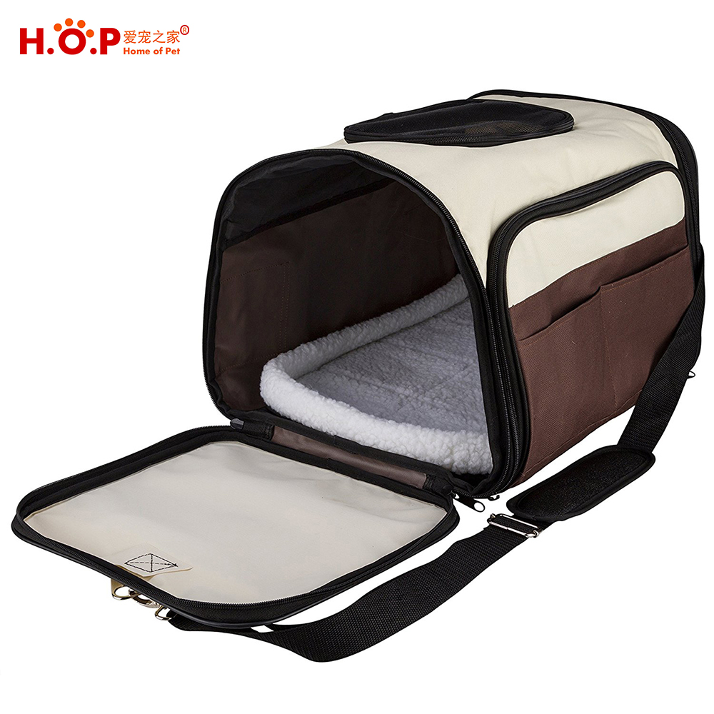 Wholesale Large Dog Carrier Premium Outdoor Indoor Expandable Tote Bag Airline Approved Pet Carrier