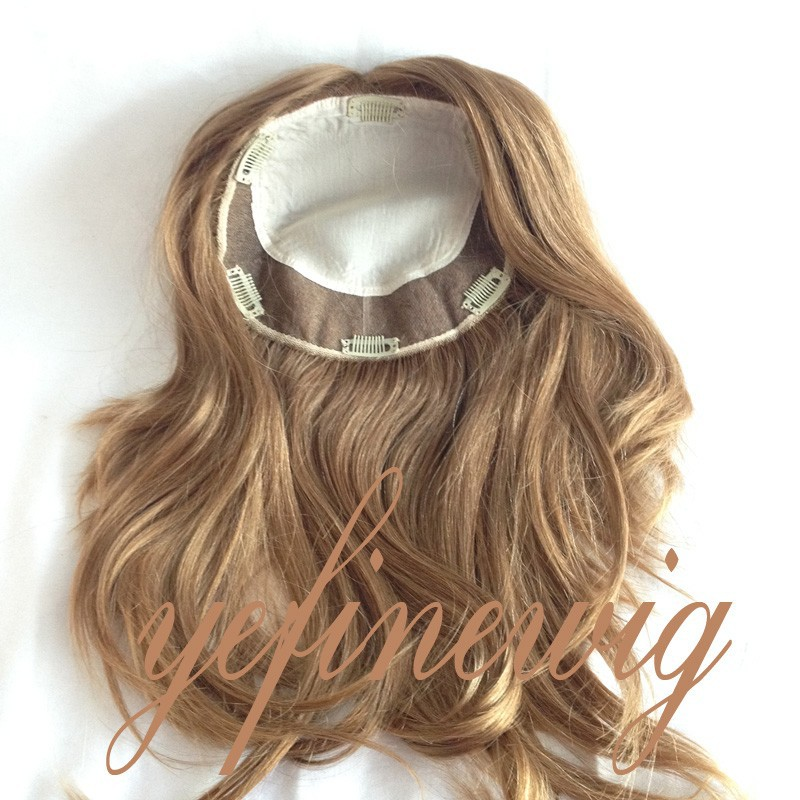 Top Quality European Hair Silk Top Hand Tied Human Hair Topper Kosher Certified