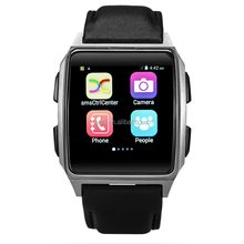 TWATCH X02 1.54 inch IPS Touch Screen MTK6572 Dual Core Single SIM 2MP Side Camera Android Hand Watch Mobile Phone