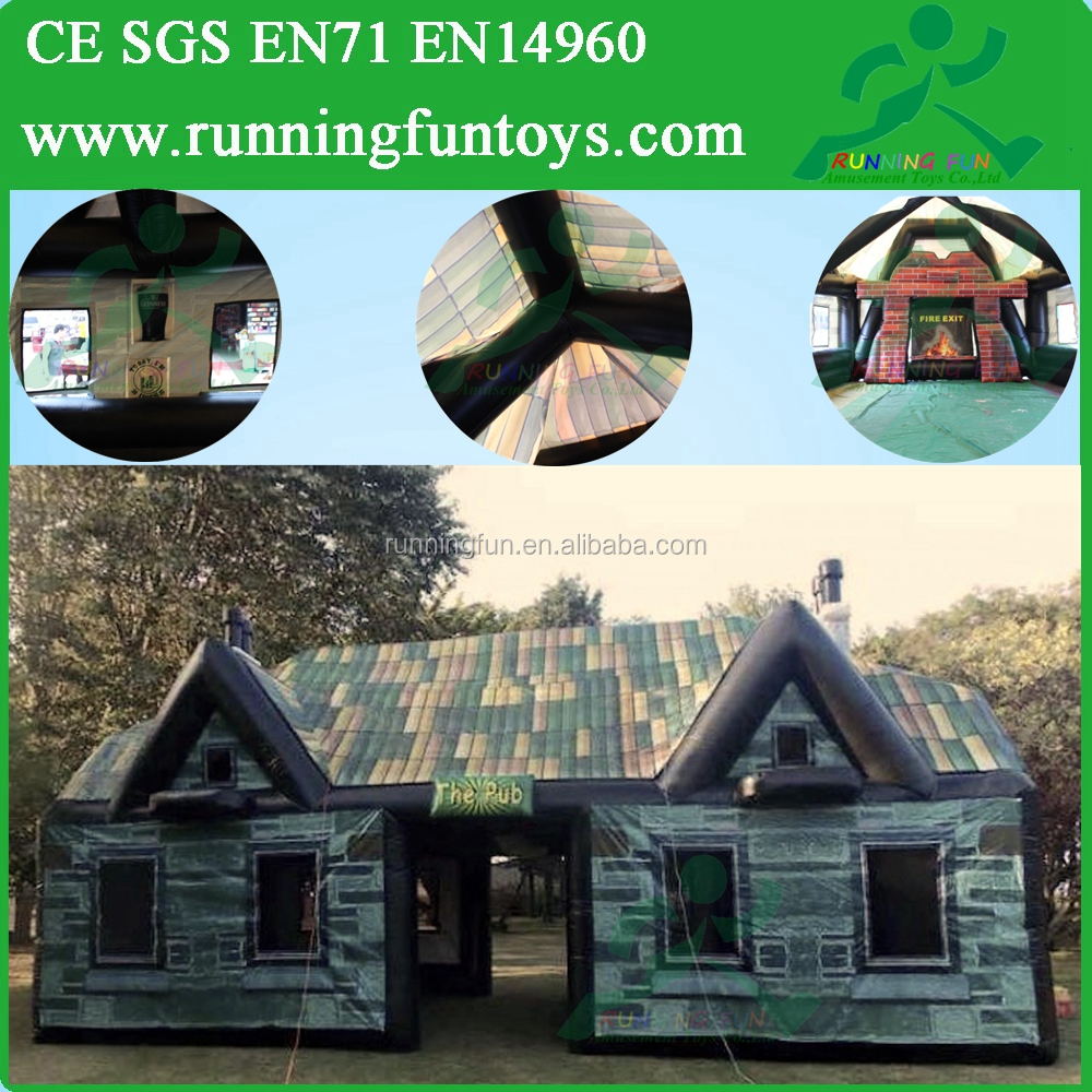Cheap Inflatable Pub, Inflatable House Bar Tent, Outdoor Big Inflatable Tents