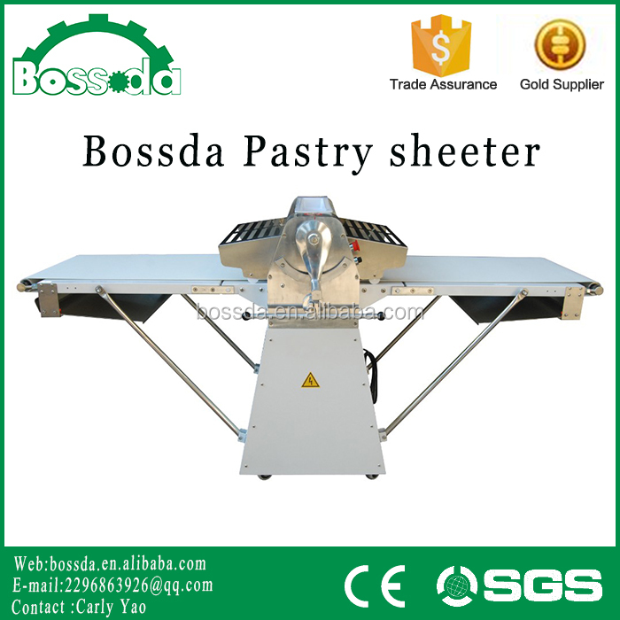 BOSSDA Hot Sale Dough Sheeter 750W Electric Dough Sheeter Machine Roller Size Bakery Equipment Dough Sheeters price