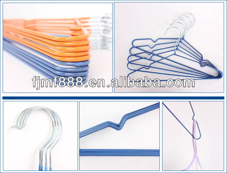 Dry Cleaning Colored Plastic Coated Wire Chrome Kids Hanger