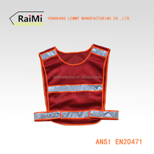high visibility reflective safety running vest tactical red mesh vest for children and kid