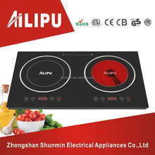 Table top installation style dual plate electric cookers/double burner cooktop/induction&infrared cooker