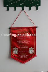 satin polyester pennant flag for football club