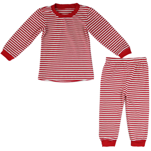 Wholesale new family christmas pajamas set Red and White stripes christmas pjs