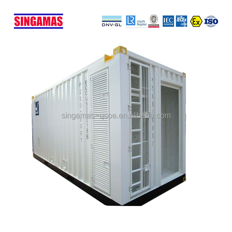 Factory direct supply 20ft offshore containers workshops and fire doors on one side