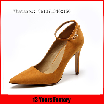 Luxurious design new style high quality new modern genuine leather material pointed toe pencil high heel shoes for ladies