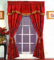 100%Polyester Factory Cheap Jacquard Luxury Curtain Design Living Room Curtains