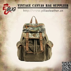 Standard size camou canvas army school backpack