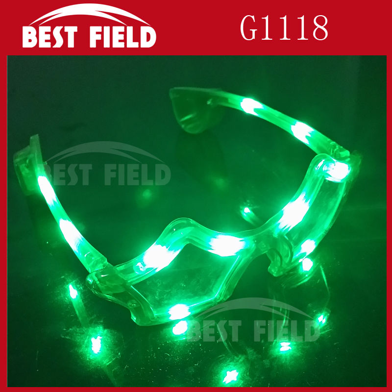 10pcs light LED star Shades flashing five glasses