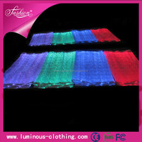 New design fashion led luminous dress clothing fabric material suppliers