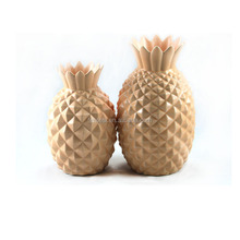 decorative pineapple shape ceramic floral vases with different sizes and color