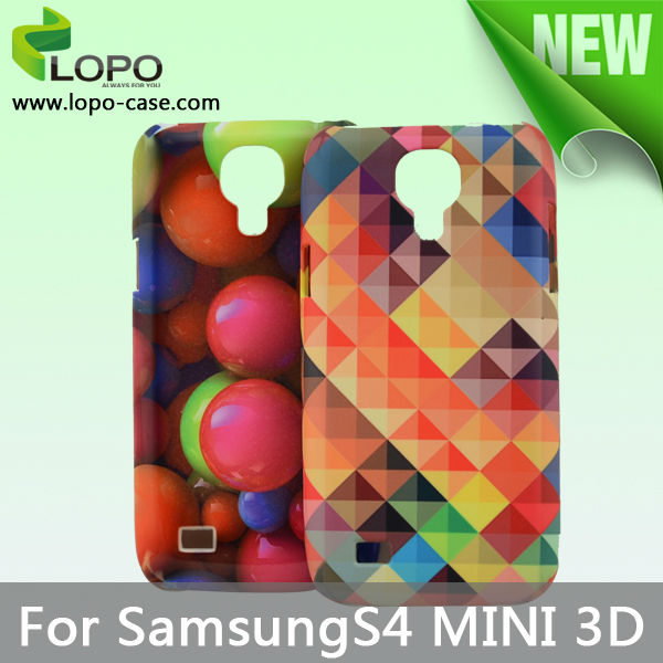 2014 high quality sublimation 3D phone case for Samsung S4 mini