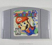 Free replacement and free DHL shipping n64 game cartridge mario party 2