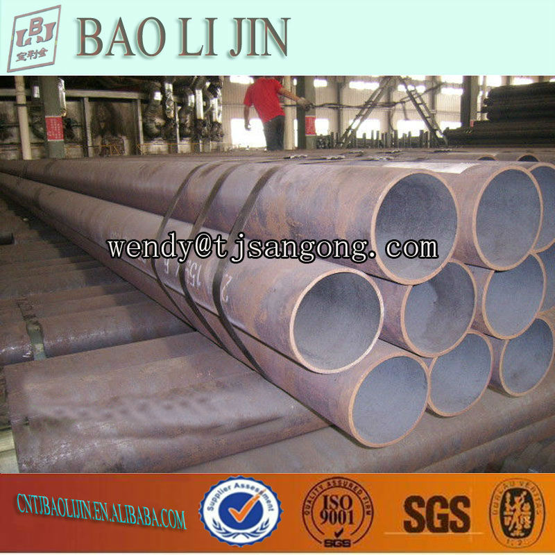 low carbon welded steel drain pipes