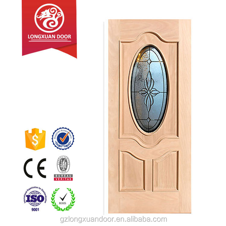 Modern wood glass door designs with vanish painting door