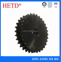 HETD high quality non-standard black oxided A B type finished bore double sprocket for sale