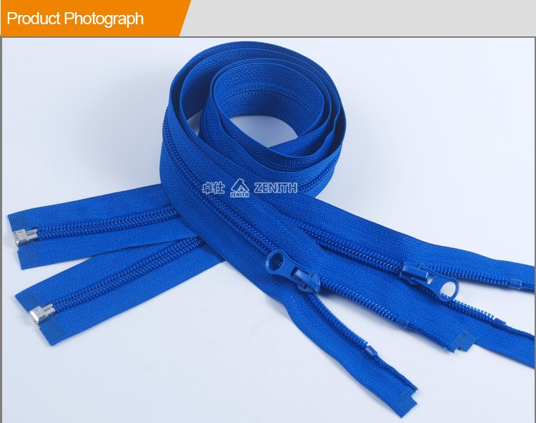 ZN20009 Nylon Zipper Open End Plastic top Stop 5# Long Zippers For Jeans
