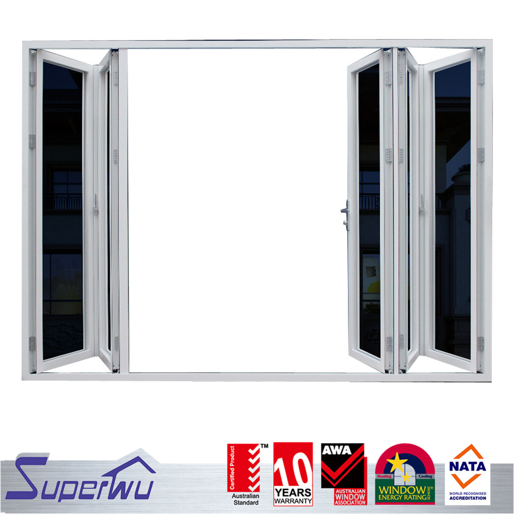China gold supplier customized glass folding door design