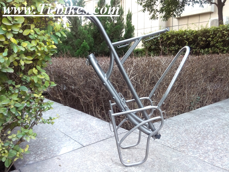 OEM titanium truss forks with front rack titanium bicycle rack customize titanium truss forks