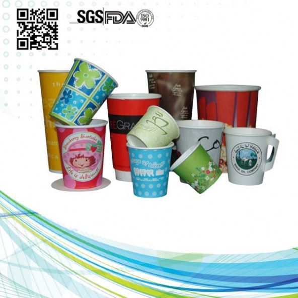 Hot/Cold Drinks Colored Sale Double Wall Insulated Hot Paper Cups Cup