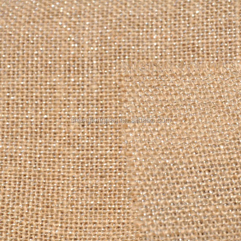 100% pure or natural jute fabric for canvas or printed