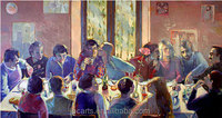 Modern party wall art oil painting pictures of people museum quality oil paintings