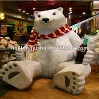 mascot animatronic polar bear model